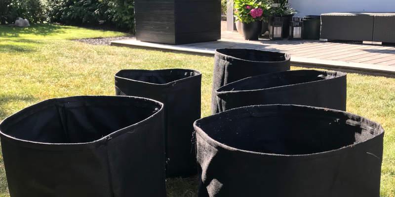 Advantages using grow bags over plastic pots